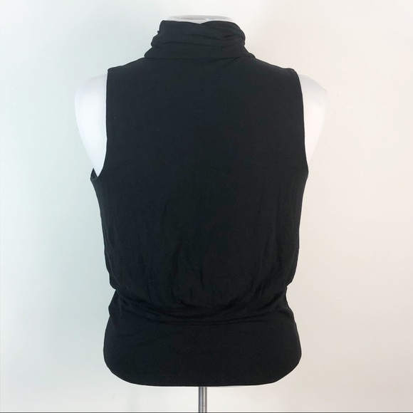 The Limited Shirt Ruched Neck Tank Top Sweater